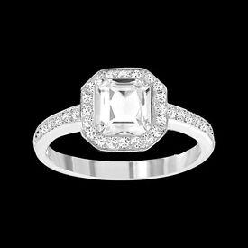 Swarovski Attract Light Square ring - Size 55 - Brand New (RRP £99)
