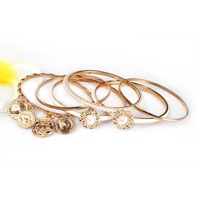 Bracelet - Fashion Women Lots Style Bracelet Gold Rhinestone Bangle Charm Cuff Jewelry