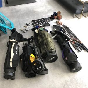 Golf equipment - clubs and bags