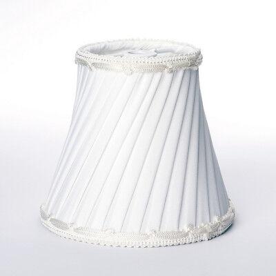 Weiße Seide Kronleuchter (Lampenschirm Aufsteckschirm Aufsetzschirm für Kronleuchter Vintage Seide weiß)