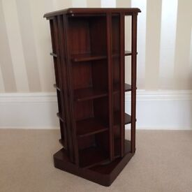 Bevan & Funnell Solid Rich Mahogany Rotating CD Holder (Holds approx. 250 CD's)