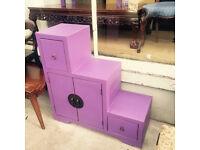 Purple Oriental Style Storage Cabinet
