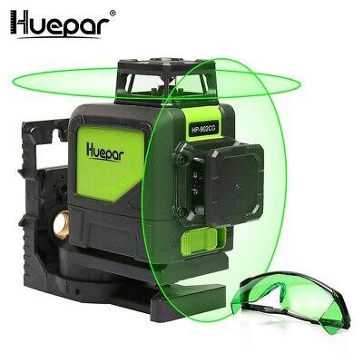 Nivel láser semi profesional autonivelante - Huepar 902CG Láser Línea cruzada Lá