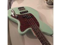 Mint green IBANEZ bass guitar, ebony fretboard, bolt on neck and chrome hardware - HARDLY USED !