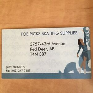 """Toe Picks Skating Store"" Gift Certificate Available"