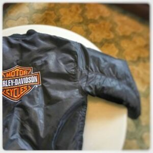 Vintage Harley Davidson Big Logo Embroidered Patch Bomber Jacket