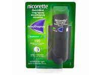 Nicorette Quickmist Freshmint 150 sprays x 4 packs - Patches also