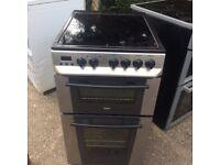 £118.00 zanussi new model ceramic electric cooker+sls/black+50cm+3 months warranty for £118.00