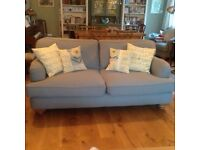 2 Sofas. 3 seater and 2 seater. Excellent condition. Fabric protected. Teal Blue