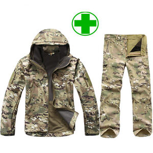 Multicam sharkskin waterproofs