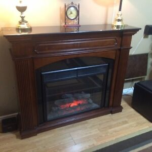 Marble Top Electric Fireplace