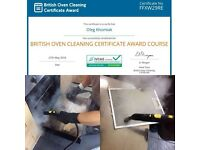 Oven steam cleaning