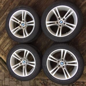 BMW OEM M-Series rims with Michelin X-Ice 245/45R18 snow tires