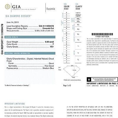 1.87 CARAT G VS1 GIA CERTIFIED EMERALD CUT DIAMOND ENGAGEMENT RING IN PLAT950 6