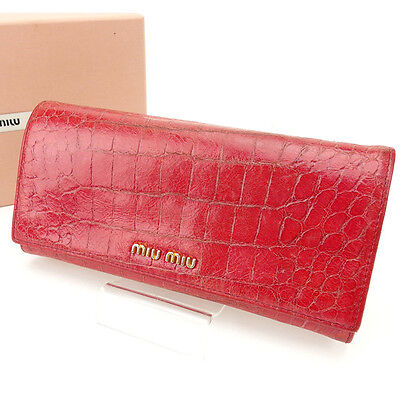 55fa26be720 miumiu Wallet Purse Long Wallet Pink Woman Authentic Used D1021