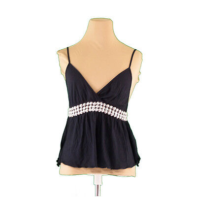 Auth SEE BY CHLOE Camisole Flower Studs Ladies used L509