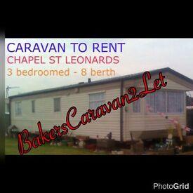 Caravan 2 let - chapel st leonards, Skegness