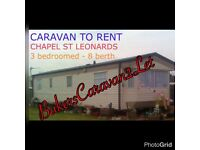 Caravan 2 let - chapel st leonards, Skegness