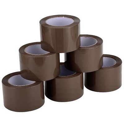 24 Rolls 3x110 Yds330brown Carton Sealing Packing Package Tape 2mil Fedex