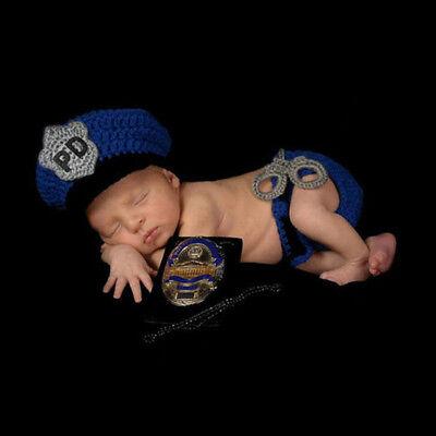 Baby POLIZIST Junge Kostüm Verkleidung Foto Shooting Requisiten 62 68 74 3-6 Mon