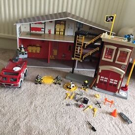 Imaginext Firestation/Engine, Batman Jet, small spaceship £20 - **Collection from Romford**