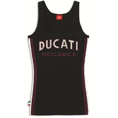 Camiseta Mecánica Mujer Original Ducati 98769415 100% Algodón Uso Verano Talla L