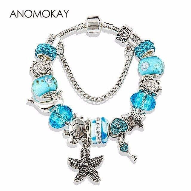 HOT 2017 Crystal Glass Beads charm & Bangles