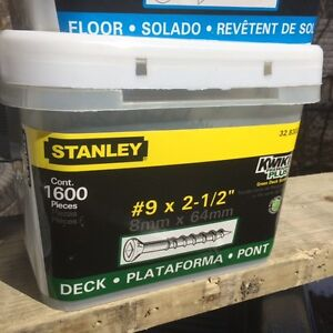 """DECK SCREWS 2&1/2"""" AND 3""""LARGE PAILS $37 NO TAX !!!!!!!!!!!!!!"""