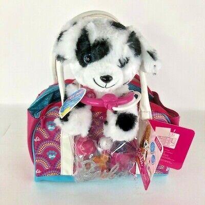 Barbie Hug & Kiss Pet 9-Piece Doctor Set Black & White Puppy