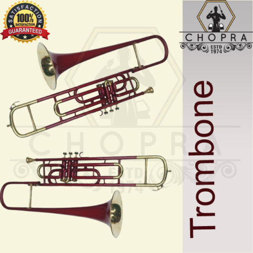 Trombone 3 Valve with Mouthpiece with Case Fast-Free Shipping