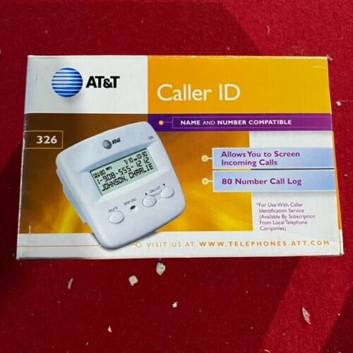 AT&T Model 326 Caller ID Clam Shell - White - FAST SHIPPING!!!