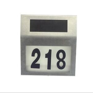 Brand new Solar house number sign