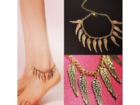 Adjustable Angel Wings Anklet