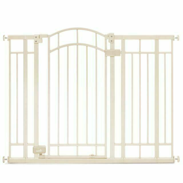 Adjustable Metal Pet Child Safety Extra Tall Gate Walk thru