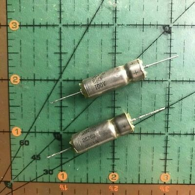 Sprague Wet Tantalum Axial Capacitor 86uf 100v 10 M3900622-0640 Short Leads X2