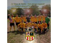 Join AC Rose & Thistle - Camberley & District Sunday Football League's finest! Sunday footy for all