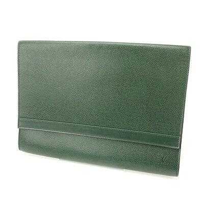 Auth Louis Vuitton Document Case Taiga unisexused J5716