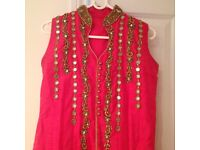 Gorgeous royal Pink Ethnic Dress
