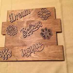 Wooden Inspirational Plaques