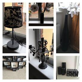 Black bedroom accessories bundle Reduced
