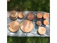 Pine hardwood round wood blocks bargain bundle woodturning