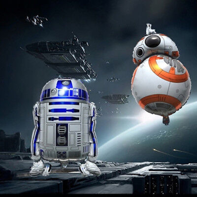 Star Latex Balloons ( BB-8 R2D2 Star Wars The Force Awakens SuperShape Foil Balloon)