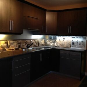 Kitchen, NEW - base cabinets and uppers