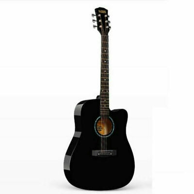 New High-Quality 38 In Black Wood Guitars From Guitar Factory Free Shipping