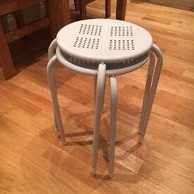 2 stools white almost new. 1 Pound !!