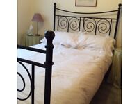 Metal framed double bed & materess