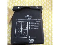 Gro anywhere black out blind - as new.