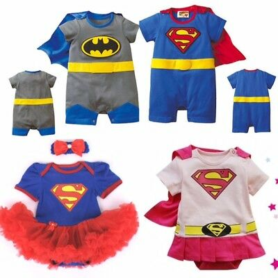 BOYS GIRLS BABY SUPER HERO ROMPER SUIT FUNKY PARTY OUTFIT FANCY DRESS COSTUME](Boys Super Hero Costumes)