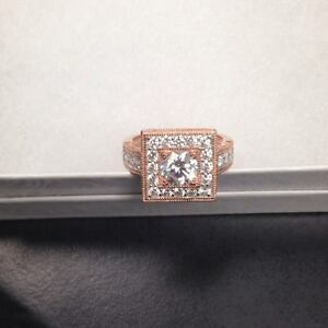 Pretty Rose Gold Ring sz 9 New