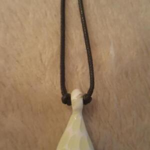 ESSENTIAL OIL NECKLACE BLOWN GLASS